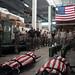 U.S. Airmen reflect upon fallen pararescueman during a memorial ruck march at Kadena Air Base
