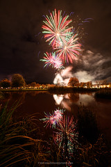 Perth South Inch Fireworks, November 5th 2019 (www.stevenrobinsonpictures.com) Tags: fireworks perth perthshire southinch bonfirenight reflection reflections nikond850 sigma14mm18art longexposure pond water river colours colourful color explosive trees autumn uk scotland guyfawkes