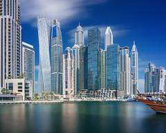 Dubai - Dubai Marina (kenny mccartney) Tags: dubai uae emirates unitedarabemirates الإمارات العربية المتحدة الإمارات دبي islam muslim skyscrapers modern future desert unreal persiangulf middleeast jumeirah marina burjkhalifa tall kennymccartney canon 5dsr tse24lii dxb