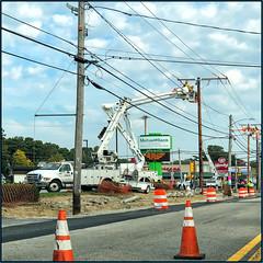 Caution - Work Zone (Timothy Valentine) Tags: telegraphtuesday large fromthecar 2019 0919 whitman massachusetts unitedstatesofamerica