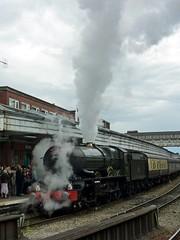49 6024 King Edward I and our train at Shrewsbury Station P1030814 (Clementinos2009) Tags: 2011cathedralsexpresstoludlowandshrewsbury11thjune steamdreams 6024kingedwardi shrewsburystation
