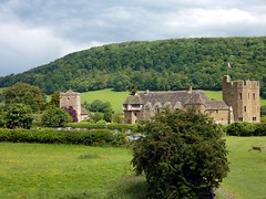 41 Stokesay Castle and Ragleth Hill P1030801sp  14.17 (Clementinos2009) Tags: 2011cathedralsexpresstoludlowandshrewsbury11thjune steamdreams 6024kingedwardi stokesaycastle raglethhill