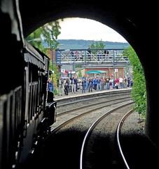 38 Ludlow Tunnel and station IMGP0627sp  14.03 (Clementinos2009) Tags: 2011cathedralsexpresstoludlowandshrewsbury11thjune steamdreams 6024kingedwardi ludlowtunnelandstation