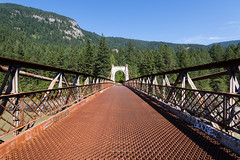 The Old Alexandra Bridge, BC (Peter Starling) Tags: canada peterstarling bc british columbia rust rusty red rustic patina trees mountains hills valley canyon highway 1 suspension historic provincial park relic hope cariboo trail