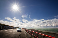 No Boat.... - Patagonia, Chile (pas le matin) Tags: patagonie patagonia chili chile world travel landscape seascape car voiture paysage blue perspective sky bleu ciel sun soleil clouds nuages mer sea road route rue street latinamerica canon 5d 5dmkiii canoneos5dmkiii eos5dmkiii