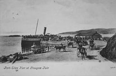Port Ellen (Neil F King) Tags: postcard scotland islay westernisles innerhebrides argyll portellen ship pier steamship paddler calmac caledonianmacbrayne macbraynes ferry
