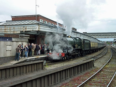 47 6024 King Edward I and our train at Shrewsbury Station P1030812sp (Clementinos2009) Tags: 2011cathedralsexpresstoludlowandshrewsbury11thjune steamdreams 6024kingedwardi shrewsburystation