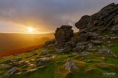 The Retrievers Rise (www.neilporterphotography.com) Tags: hound tor dartmoor sunrise baskerville national park golden hour