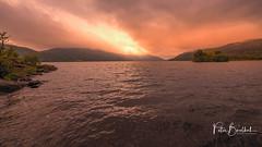 Loch Eriboll (pboolkah) Tags: scotland unitedkingdom arrochar red lake canon sunset landscape canon5d canon5dmkiv