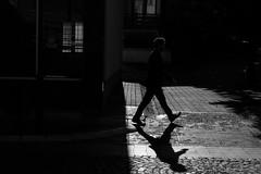 In a hurry (stefan.pavic1) Tags: street blackandwhite monochrome bnw fujifilm fuji xe2 silhouette shadow outdoor