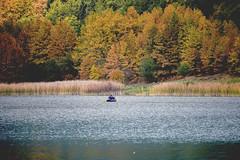 canoeing - doxa lake (athanecon) Tags: lake doxa doxalake church stfanourios ayiosfanourios korinthia orinikorinthia feneos peloponissos peloponese peloponisos forrest pheneos canoe canoeing kayak
