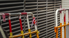 Mini fences (Theen ...) Tags: orange highrise hongkong vents safetytape theen mini white red lumix flats shatin wall residential mainland fence