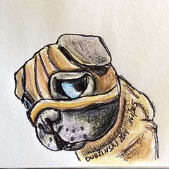 361/365 11/05/19 Pug Figurine (Lainey1) Tags: pug dog 110519 361 361365 pugfigurine harmonykingdom elainedudzinski lainey1 365 doodle art sketch draw sketchoff girlzsketchy illustration abstract sketching drawing artist sketchbook graphics womensketchshit doodles doodling popart sharpies watercolor