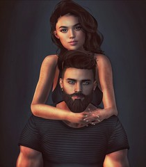 [ 📷 - 152 ] (insociable.sl) Tags: beard models portrait happiness lovestory cute girl woman female man male boy love bae girlfriend couple edit sl secondlife