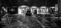 Back at the Tram Sheds (gavsidey) Tags: crich tramway museum ngc d500 sheds tracks bw trams derbyshire starlite