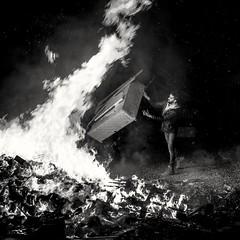 Anything Goes... (evans.photo) Tags: bonfire environmental fire burning bonfirenight pollution