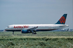 N653AW Airbus A320 America West (@Eurospot) Tags: airbus toulouse blagnac americawest a320 n653aw