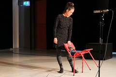Cathy van Eck 7503-5_6282 (Co Broerse) Tags: music composed contemporary november den bosch shertogenbosch kunstmuziekroute cobroerse cathy van eck composer dutch electronics bij katrien bank leening empty chairs