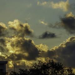 A Beautiful Sunrise (soniaadammurray - On & Off) Tags: digitalphotography sky clouds nature trees building sunset shadows reflections martedidinuvole martesdenubes artchallenge nicewonderfultuesdayclouds exterior