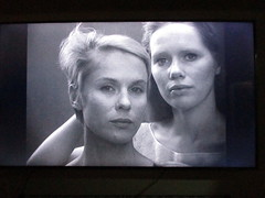 3 a.m. - 65 inches of ingmar bergman (the foreign photographer - ฝรั่งถ่) Tags: tv television movie ingmar bergman liv ullman bibi andersson 1966 house bankhen bangkok thailand canon persona black white