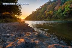 Sunrise on the River・大堰川の日の出 (hermosawave.photography) Tags: arashiyama sunrise 嵐山 日の出 kyoto japan