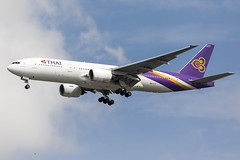 Thai Airways International | HS-TJT (Pathum Wan / ปทุมวัน) (TommyYeung) Tags: thai thailand thaiairways thaiairwaysinternational tg tha pathumwan ปทุมวัน hstjt boeing boeingcommercialairplanes boeing777 777200 777200er boeing777200 boeing777200er boeing7772d7er extendedrange b772 b777 777 widebodyjetairliner widebodyjet widebody twinjet twinengine landing airtransport airplane aircraft airliner air airline airliners airlines airframe aviation aviationphotography transport transportphotography transportspotting transportation aeroplane jet jetairliner fly flymachine spotter spotting spot planespotting vehiclespotting canonphotography canon canoneos5d4 canonaviation rollsroyce rollsroycetrent895 rrtrent895 transit commercialjet passengerjet vtbs bkk suvarnabhumi suvarnabhumiairport bluesky vacation holiday plane planephoto planes planephotography ท่าอากาศยานสุวรรณภูมิ सुवर्णभूमि