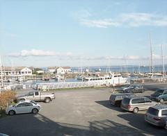Port Townsend waterfront (Kent C.) Tags: porttownsend wa pygmyboats mamiyarb67pros film filmphotography kodakportra400 kodakfilm