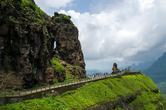 Malshej Point with the Needle Pin (agarwalsonika7) Tags: outdoors beauty in nature mountain tranquil scene rock scenics day sky cloud formation water landscape india malshej ghat land landscapes travel natural light photograph world pics photo photography clouds scenery indian