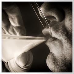 Movember 5: Milk Moustache (_Matt_T_) Tags: bw selfie portrait movember closeup drink milk af540fgz apolloorb43 dailyinnovember smcpdfa50mmf28macro 365 westcott cactusv6 autoportrait closefocus
