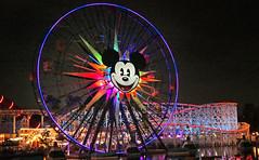Mickey's Fun Wheel. (Bernard Spragg) Tags: disneyland mickeymouse wheel night fun lumix lights rides disneycalifornia cco