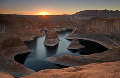 Reflection Canyon Sunrise (photo61guy) Tags: utah waterpools canyon reflectioncanyon lakepowell sunrise goldenhour redrocks landscape nature