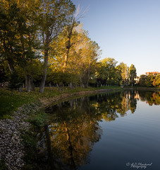 Seasons (Through_Urizen) Tags: category eskisehir kanlikavakpark landscape panorama places sunrise turkey canon1585mm canon canon90d outdoor citypark park trees reflections river watercourse autumn fall seasonal colours colourful bluesky