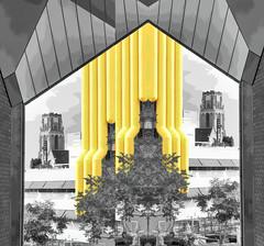 Mario World (beelzebub2011) Tags: netherlands holland rotterdam mirrorimage selectivecolor abstract