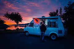 Patties & Cream (paulphotographe) Tags: dunedin nz evening light night colour food trucks burgers foodtruck