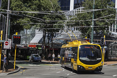 Willis & Manners Street - Wellington (andrewsurgenor) Tags: trolleybuses trolleybus trolleycoach trolleybuswellington trolebús trolejbusowy trolejbus trackless filobus obus gowellington nzbus