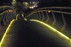 Wimborne at Night (brightondj) Tags: bridge perspective night lights wimborne wimborneminster riverstour 2010s 2019 2019november holiday