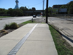 End of the Sidewalk (TheTransitCamera) Tags: dallas texas city urban sidewalk walking pedestrian