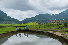 Reflections (agarwalsonika7) Tags: outdoors sky nature tree day scenics tranquil scene cloud reflection beauty in plant green landscape water india malshej ghat maharashtra natural world landscapes light nikon photography photo photograph pics hills mountains hill field