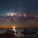 Milky Way at Sugarloaf Rock - Dunsborough, Western Australia
