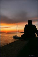 l'attente (pileath) Tags: coucherdesoleil morbihan arzon ombres bateaux voiliers sunrise automne autumn see shadow bzh bretagne britain