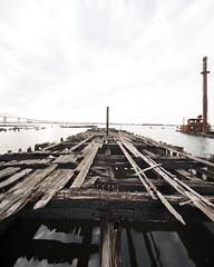 Charleston, Staten Island (Mitch Goddard) Tags: sony a7rii a7r alpha statenisland nyc newyorkcity abandoned urbex urbanexploration charleston ship boat barge shipwreck shore trespassing urbandecay canon 17mmf4tse