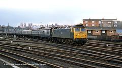 06/04/1985 - Holgate Junction, York. (53A Models) Tags: britishrail brush type4 class47 47608 diesel passenger holgatejunction york train railway locomotive railroad