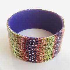 Wide Klimt polymer clay cuff bracelet (bycreativehands) Tags: polymerclay bracelet cuff