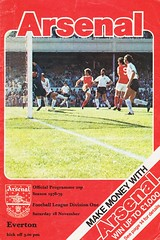 Arsenal vs Everton - 1978 - Cover Page (The Sky Strikers) Tags: arsenal everton football league division one highbury official programme 20p