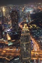 View from Burj Khalifa (Dariusz Wieclawski) Tags: dubai dubaj emirates emiraty zae burjkhalifa skyscraper sunset dusk nikon d750 nikond750 2470mm28