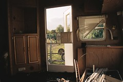 Canon EOS 3 (camera_holic) Tags: canon eos 3 35mm film pro porfessional camera battery grip south glos gloucestershire analogue abandoned caravan mobile home empty trashed derelict smashed window