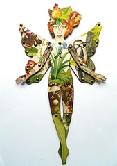 Paper doll (JuliaPeculiart) Tags: fairy fae faerie nature woodland forest paperdoll paperpuppet doll handmade jointed articulated ooak papercrafts juliapeculiar