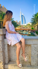 City of life (Yamazaky96) Tags: asian beauty dubai burjalarab charm bluesky longhair shortdress