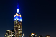 ESB in Blue lll (fate atc) Tags: esb empirestatebuilding manhattan murrayhill newyork buildings city frommidtown lights night nightphotography skyline
