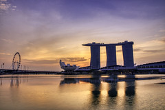 Marina Bay at Dawn (rohantstevens) Tags: singapore marinabay marinabaysands raffleshotel